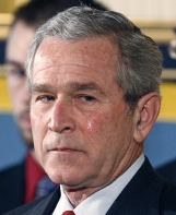 President George W. Bush sheds a tear whilst hearing how Medal of Honor recipient Corporal Jason Dunham selflessly threw himself atop a grenade about to explode to save the lives of those around him (credit: Jim Bourg/Reuters)