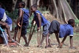 Poliomyelitis - Cheshire Home for Handicapped Children, Freetown, Sierra Leone. Credit: WHO